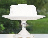 Wedding Cake-Cupcake Stand Ivory Shabby Chic Vintage Reclaimed Serving Platter Made To order