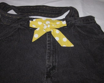Recycled black jeans tote bag