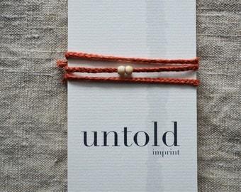 Organic Wrap Bracelet. Yoga Bracelet. Organic Linen Bracelet. Layering Jewelry. Gifts for Yogis. Friendship Bracelet. Textile Jewelry.