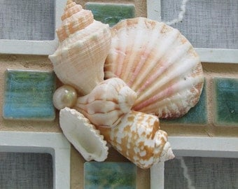 Sea Shell Aquamarine Wall Cross