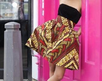 Ruki African print skirt by GITAS PORTAL