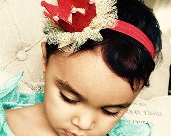 Newborn  mini Crown, Birthday Crown, Baby headbands, Princess Crown Glitter Crown Headband