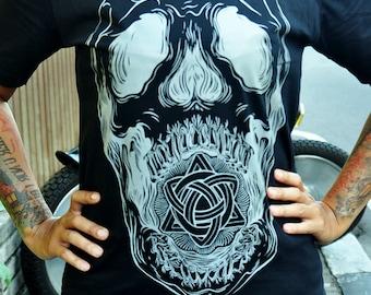 Screaming Skull tattoo shirt from CarpeDiem TattooStudio Indonesia