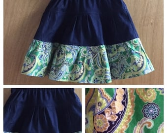 Tiered Cotton Skirt, child size 5