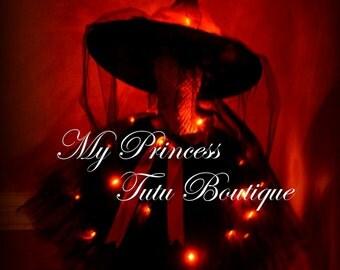 New Twinkling Lights Tutu Dress - Halloween