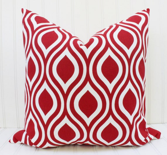 Decorative Pillows With Red In Them : Red Pillows.Throw Pillows.Pillow Cover.Accent Pillow