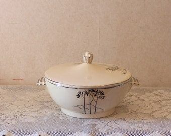 American Chinaware Leigh Ware Art Deco Serving Bowl - RARE 1930s