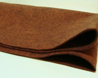Bewitching Brown 35% Merino Wool Felt Blend Fabric By the Yard from Woolhearts