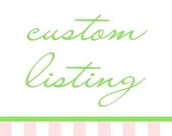 Bridal Order for Caroline