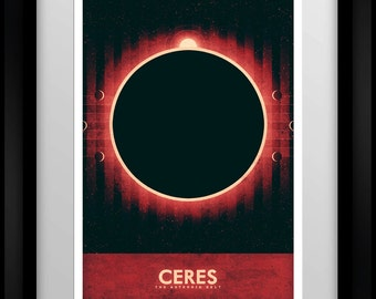 Space Travel Poster - The Asteroid Belt - Ceres