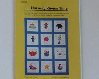 Nursery Rhyme Applique Quilt Pattern