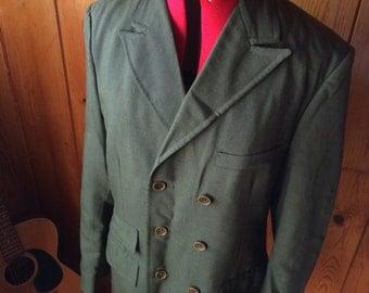Vintage 60's men's army green mod suit jacket m
