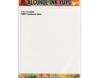 Tim Holtz Alcohol Ink Transulcent Yupo Paper 10 Sheets