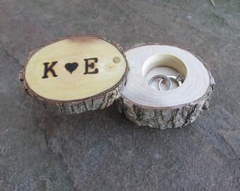 Elm Ring Box   Ring Holder   Ring Pillow Alternative   Wedding Gift   Engagement Gift   Wedding Ring Holder