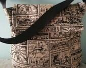 Crossbody Handmade The Legend of Zelda Bag / Wind Waker / Nintendo video game bag