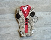 Baby Girl Cardigan Onesie and Lace Onesie Set-Leopard Long Sleeve Onesie with Sequin Elbow Patches-Little Missy Cardigan Onesie Set