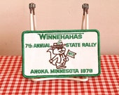 vintage iron on patch - 'GOPHER' Minnesota state rally 1978