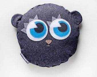 Bambak Blueeyed Plushie cushion, big decorative pillow, for kids, for teens, kawaii, original gift, handmande in Europe