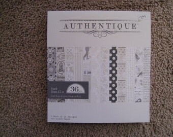 Authentique - Peaceful - 6 x 6 Paper Pad - New