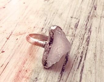 Raw Quartz Ring