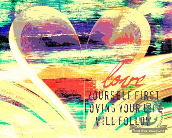 Love Yourself First | Book Lover Wall Decor | At Checkout, Choose Lustre Print or Gallery Wrapped Canvas