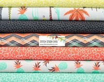 Coral & Mint Migration Giraffe Bundle From Michael Miller