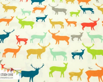 Elk Fam Multi From Birch Organic Fabric's Just For Fun Collection by Jay-Cyn Designs