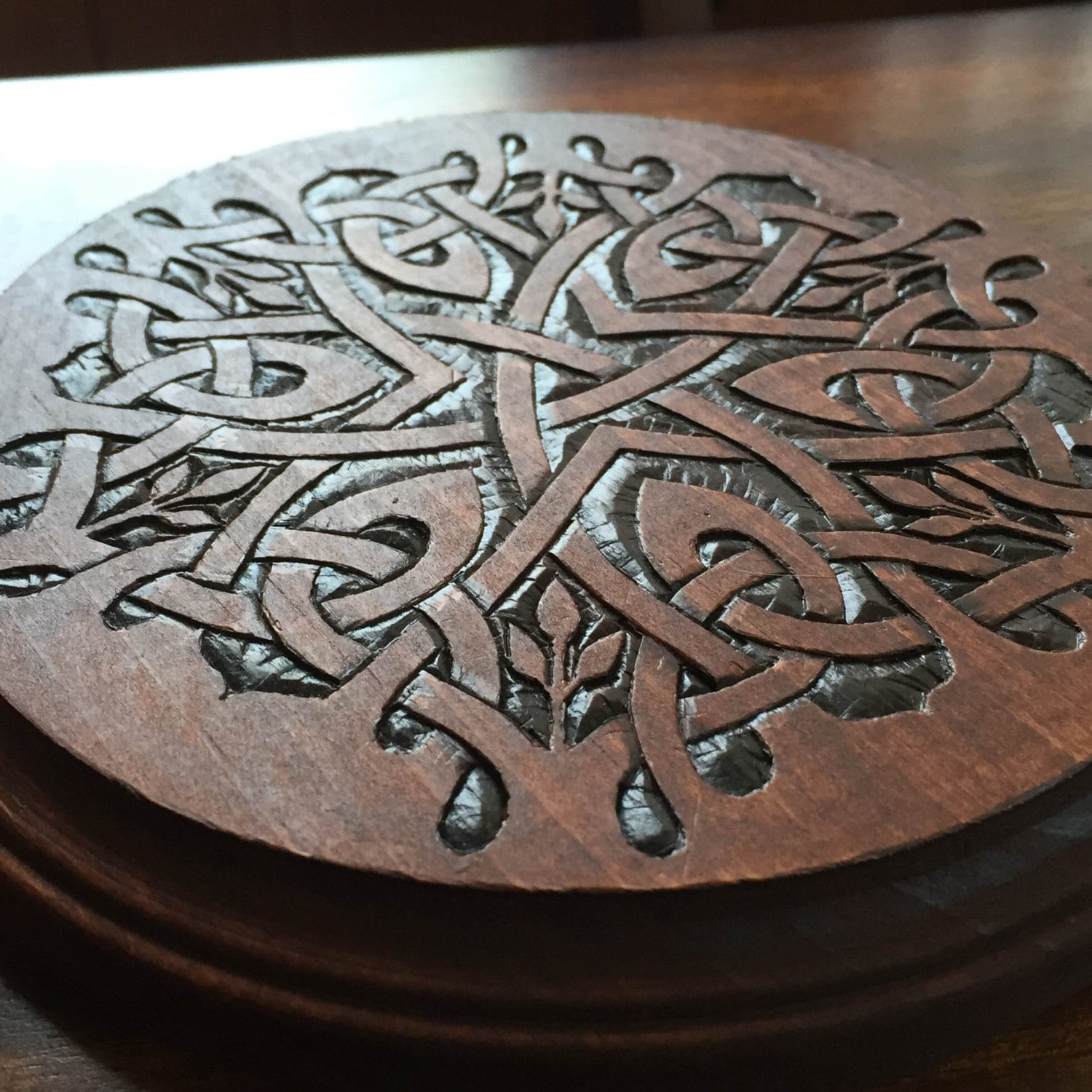 Celtic Knot Woodburning