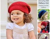 50% OFF SALE Crochet Pattern, Basic Slouchy Hat Pattern 012, Crochet Hat Pattern, Childrens Hat Pattern