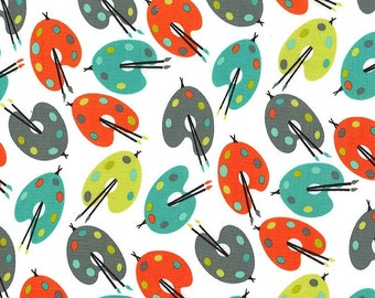 Michael Miller fabric by the yard Paint Palettes in Retro 1 Yard