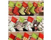 SALE Christmas Stocking Christmas Stockings Personalized Christmas Stocking - 16 Patterns available - Price includes Personalization