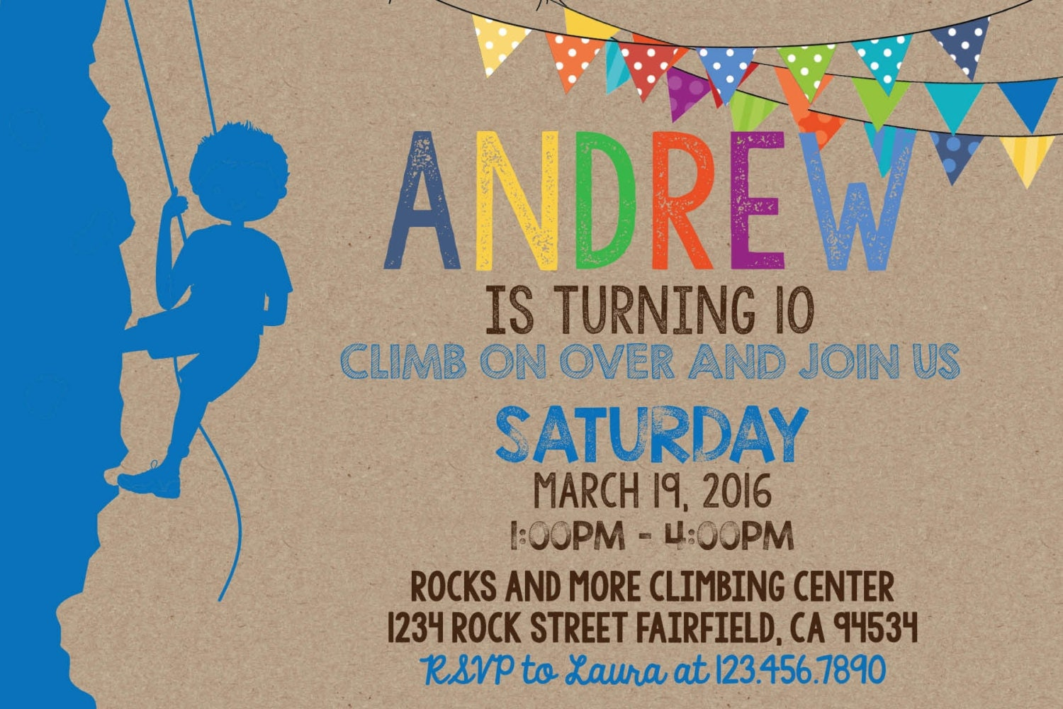 Rock climbing invitation and thank you card set boy birthday rock climbing invitation and thank you card set boy birthday invitation i design you filmwisefo