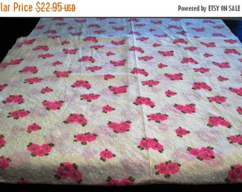 FALL SALE 20% Off Large Vintage Fabric Remnant 4.5 Yards~Cotton Eyelet by Marcus Bros. Textiles Div. Whittaker Textiles