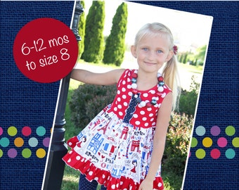 Tabitha's Knit T-Shirt Dress and Top PDF Pattern Sizes 6-12m to girls 8