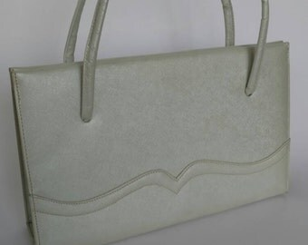 Vintage Lennox purse, light sage purse, vintage handbag