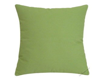 Avocado Green Solid Decorative Throw Pillow Cover / Pillow Case / Cushion Cover / Cotton / 20x20""