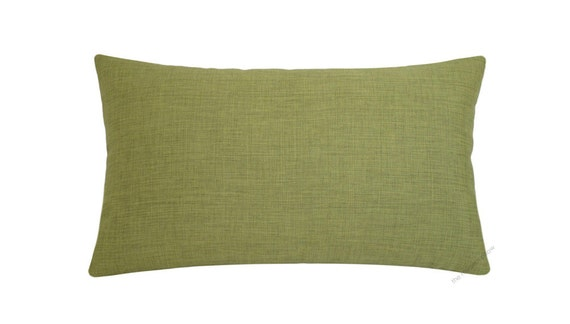 Olive Green Cosmo Linen Decorative Throw Pillow Cover / Pillow