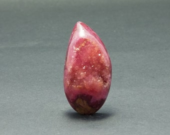 Beautiful Red Drusy Cabochon 42 x 21 mm