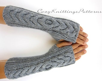 Items similar to Long arm warmers, fingerless gloves, gift ideas for her, glo...