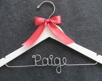 RUSH ORDER Flower Girl Hanger, Personalized Hanger, Childrens Hanger, Baby Shower Gift, Child Size Hanger, Kids Hanger, Flower Girl Gift
