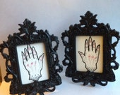 Psychic hands, origional drawing in frames
