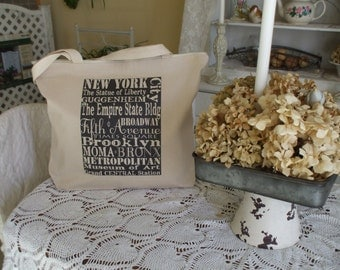 Zippered Cotton Tote Bag