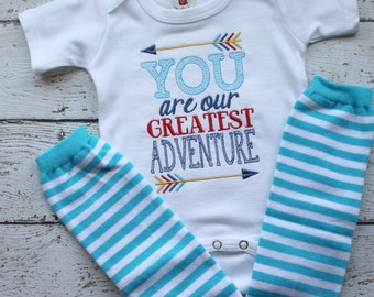 Newborn Boys Take home outfit, Newborn boy clothes, greatest adventure onepiece bodysuit for boys, newborn photo outfit, baby shower gift