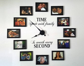 Time Spent with Family is Worth Every Second Wall Art (Wall Decals ONLY)