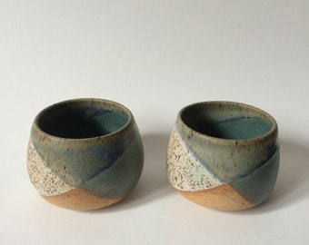 Set of two wine cups