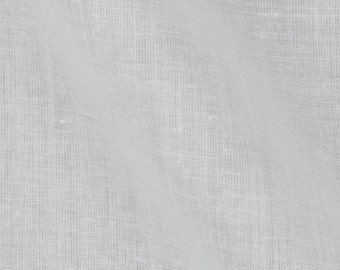 French Voile Fabric- 100% Combed Cotton by the yard - White (292)