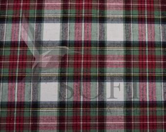 Cotton Flannel Plaid 1 Tartan Fabric by the Yard