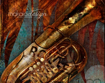 Route 66 Music Series Trumpet Music Art