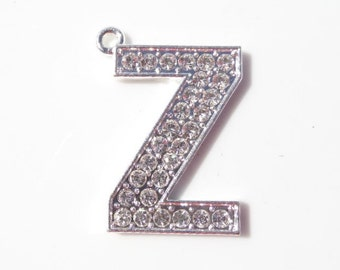 The Letter Z Rhinestone Pendant, 34mm