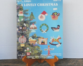 Vintage A Lovely Christmas 1986 Kount on Kappie Book 115 Plastic Canvas Needlework Booklet
